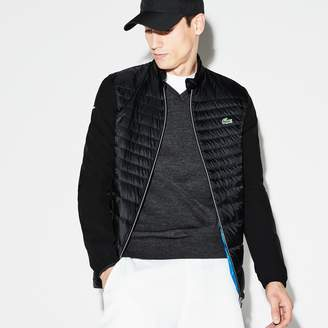 Lacoste Men's SPORT Water-Resistant Technical Quilted Golf Jacket