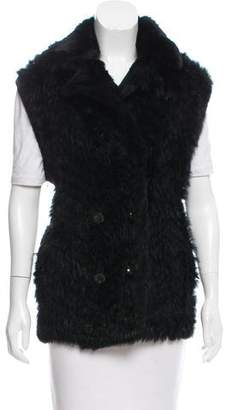 Marc Jacobs Wool-Accented Fur Vest