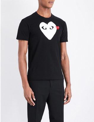 Comme Des Garcons Play Heart-logo cotton-jersey T-shirt $84 thestylecure.com