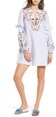 Women's Socialite Embroidered Poplin Dress $62 thestylecure.com