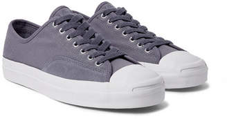 Converse Jack Purcell Pro Suede-Trimmed Canvas Sneakers