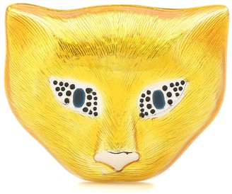 Gucci Sterling silver cat brooch