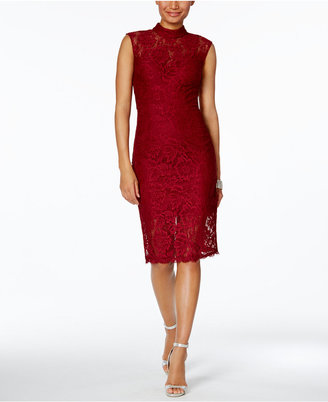 Betsy & Adam Lace Sheath Dress $199 thestylecure.com