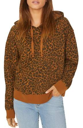 Sanctuary Venice Leopard Print Hooded Sweatshirt