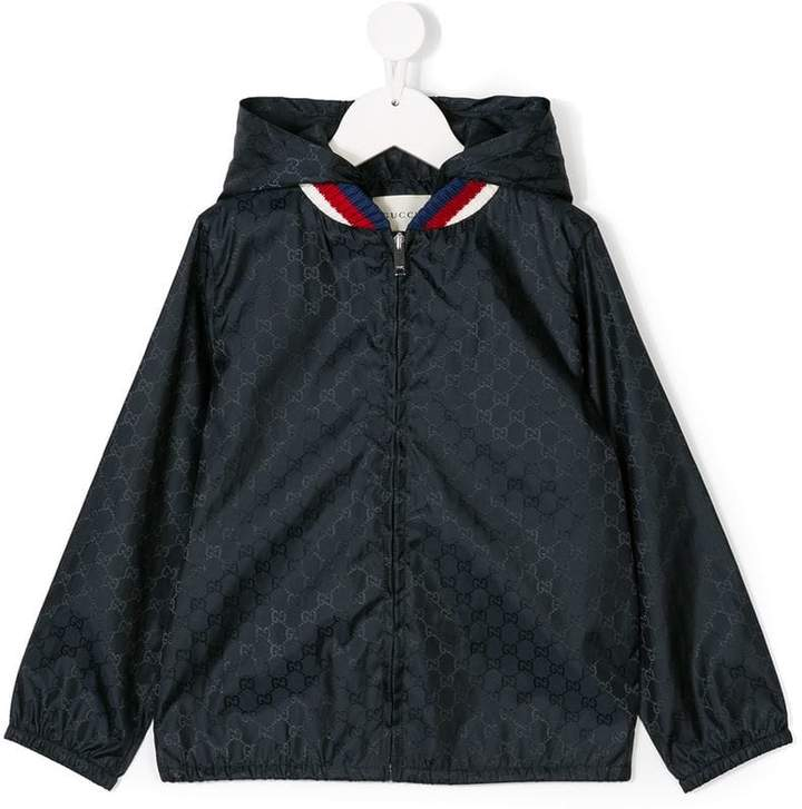 Gucci Kids GG patterned hooded jacket