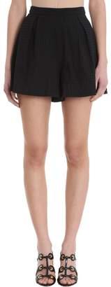 L'Autre Chose Black Cotton Shorts