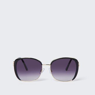 River Island Womens Black smoke lens glam sunglasses