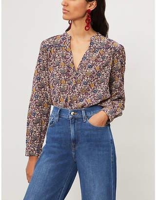 BA&SH Floral-print cotton shirt