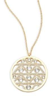 Swarovski Crystal Studded Round Pendant Necklace