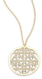 SwarovskiCrystal Studded Round Pendant Necklace