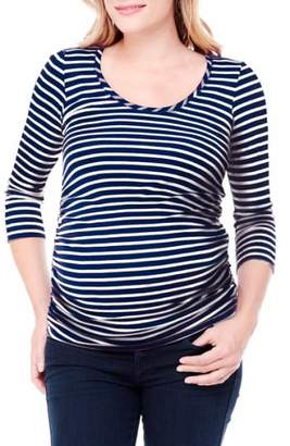 Ingrid & Isabel R) Stripe Ruched Maternity Top