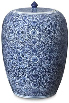 Williams-Sonoma Blue & White Floral Ginger Jar