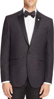 Ted Baker Diamond Textured Slim Fit Tuxedo Jacket $745 thestylecure.com