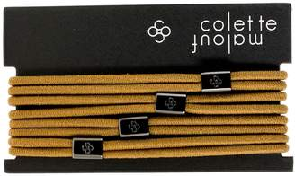 Colette Malouf Double-Band Hair Ties with Logo Bead (Set of 4)