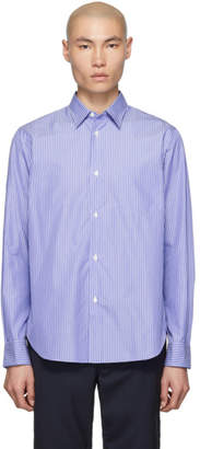 Comme des Garcons Homme Blue and White Striped Shirt