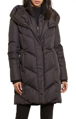 Women's Lauren Ralph Lauren Quilted Hooded Coat With Knit Trim $300 thestylecure.com