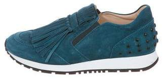 Tod's Kiltie Suede Sneakers