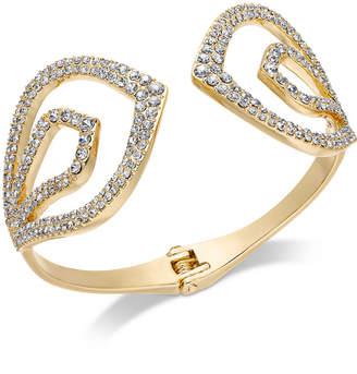 INC International Concepts I.n.c. Gold-Tone Pave Hinged Cuff Bracelet