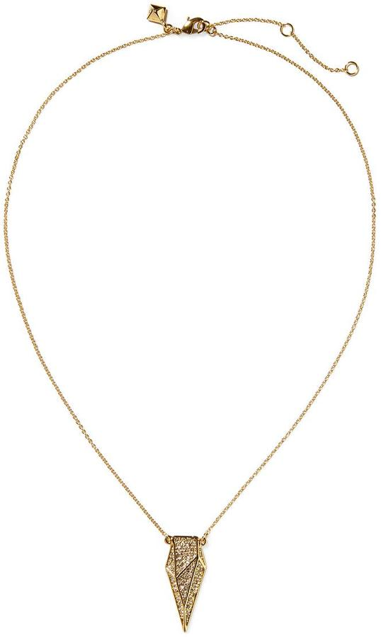 Rebecca Minkoff Tulum Faceted Shiled Necklace