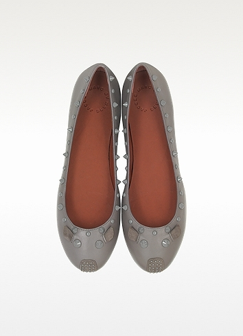 Marc by Marc Jacobs Studded Leather Punk Mouse Ballerina Flat