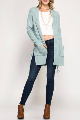 She + Sky Lace Side Cardigan $68 thestylecure.com