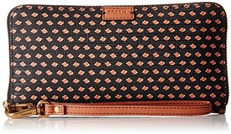 Fossil Emma Large Zip Wallet Rfid $75 thestylecure.com