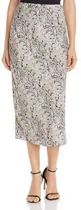 Bardot Snake Print Slip Skirt