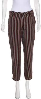 The Great High-Rise Silk Striped Pants