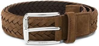 Tod's woven buckle belt