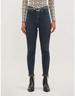 Good American Cood Curve Raw Edge skinny high-rise jeans