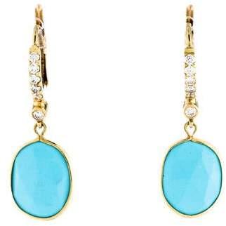Penny Preville 18K Turquoise & Diamond Drop Earrings