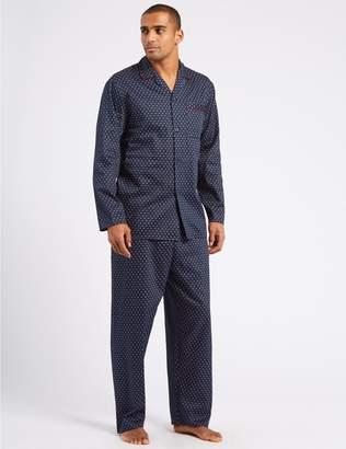 Marks and Spencer Pure Cotton Printed Pyjama Set