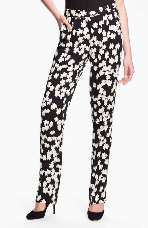 Diane von Furstenberg 'Jacques Strggt' Print Silk Pants