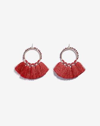 Express Beaded Tassel Drop Earrings