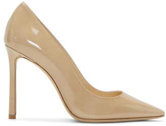 Jimmy Choo Beige Patent Romy 100 Heels
