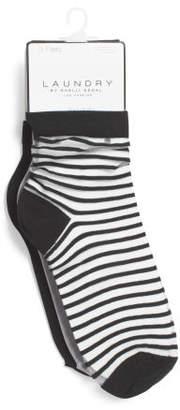 3pk Sheer Ankle Socks