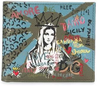 Dolce & Gabbana Madonna print wallet