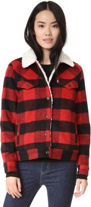 Levi's Wool Boyfriend Sherpa Trucker Jacket $178 thestylecure.com