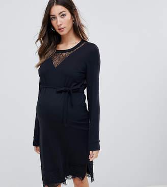 Mama Licious Mama.licious Mamalicious lace insert midi dress