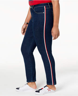 Tommy Hilfiger Plus Size Tribeca Striped Skinny Jeans, Created for Macy's