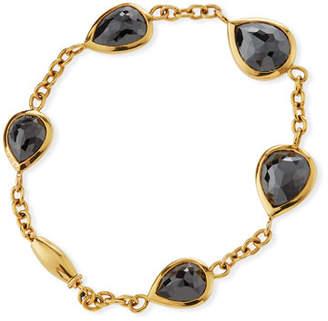 Black Diamond Rahaminov Diamonds 18k Kifani Pear Bracelet