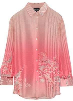 Giorgio Armani Printed Silk-Chiffon Shirt