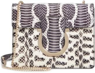 Salvatore Ferragamo Small Thalia Leather & Genuine Snakeskin Shoulder Bag
