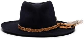 Nick Fouquet Banyan braided trim fedora hat