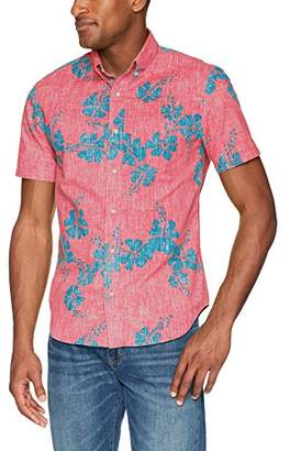 Reyn Spooner Men's 50th State Flower Spooner Kloth Tailored Fit Hawaiian Shirt