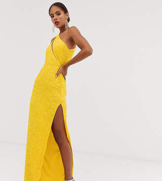Asos Design DESIGN Tall embellished spliced bodice maxi dress
