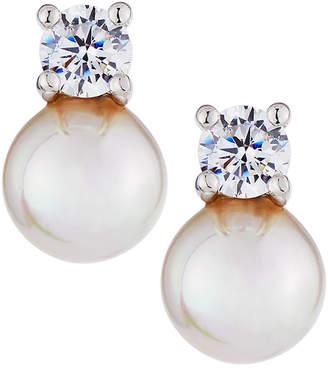 Majorica 7mm Simulated Pearl & Crystal Stud Earrings 9E331r4
