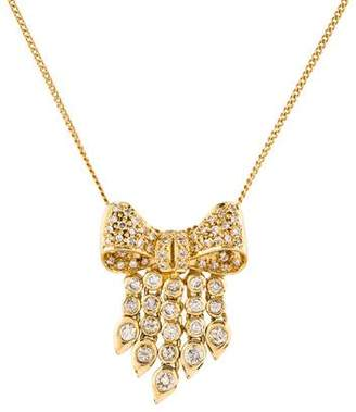 Necklace 18K Diamond Bow Pendant