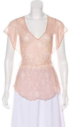 See by Chloe Silk Sheer Top
