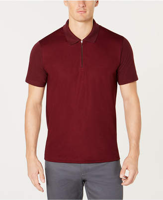 Ryan Seacrest Distinction Men's Modern-Fit Quarter-Zip Piqué Polo, Created for Macy's